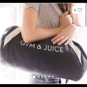 Gym & Juice workout duffle tote bag